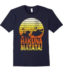 disney lion king hakuna matata profile graphic t-shirt men