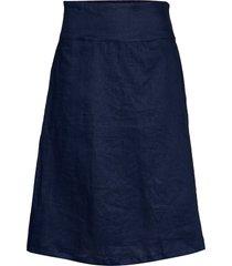 sara knälång kjol blå masai