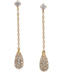 eliot danori gold-tone pave drop earrings, created for macy's