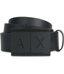 ax armani exchange embossed leather ax logo belt