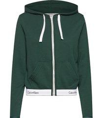 top hoodie full zip top groen calvin klein