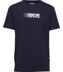 split t-shirt t-shirts short-sleeved blå wood wood