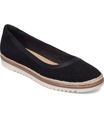 serena kellyn sandaletter expadrilles låga svart clarks