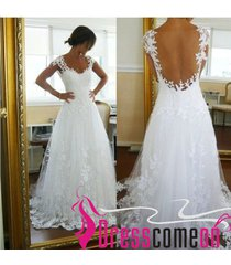 beach wedding dresses white tulle backless sexy lace summer open backs dress