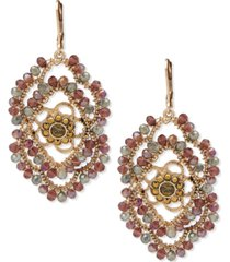 lonna & lilly gold-tone crystal evil eye beaded statement earrings