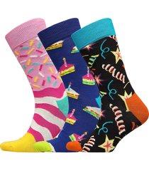 happy birthday playing gift box underwear socks regular socks multi/mönstrad happy socks