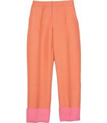 wide leg pants in peach