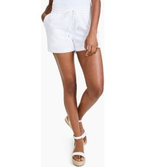 style & co petite cotton eyelet pull-on shorts, created for macy's