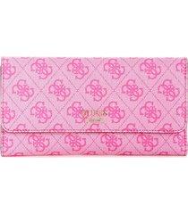 billetera downtown cool slg multi clutch sg729666 para mujer guess - rosado