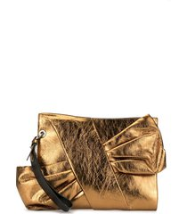 paule ka bow-detail clutch - gold