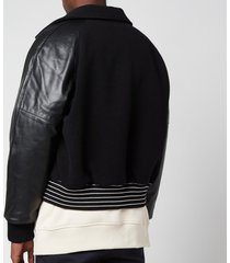 acne studios men's boiled wool bomber jacket - black - 50/l