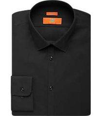 egara orange skinny fit dress shirt black