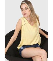 blusa amarilla etam riviera