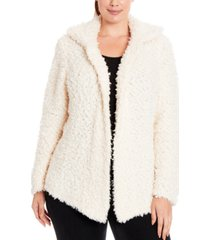 joseph a plus size teddy sweater jacket