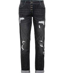 jeans boyfriend sdruciti con poliestere riciclato (nero) - rainbow