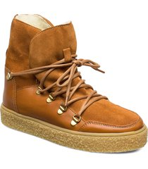lola wool shoes boots ankle boots ankle boot - flat brun pavement