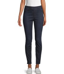 eileen fisher women's stretch organic cotton jean leggings - light blue - size m