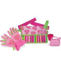 melissa and doug blossom bright garden tool belt set