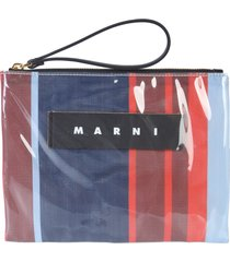 marni small glossy grip pouch