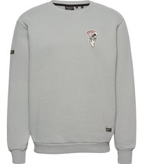 military graphic crew sweat sweat-shirt trui grijs superdry