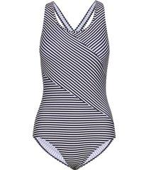 brighton, swimsuit w racerback baddräkt badkläder blå abecita
