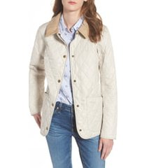 women's barbour spring annandale quilted jacket, size 8 us - beige