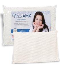 travesseiro americanflex visco amx 12 cm de altura - branco