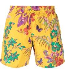 etro floral-print swim shorts - yellow