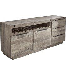 komoda szafka finca drewno piniowe szara 175cm