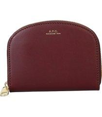 a.p.c. designer wallets, demi-lune wallet