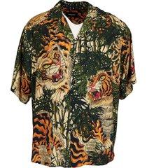 dsquared2 viscose tiger shirt