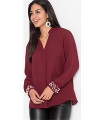 blouse met parels