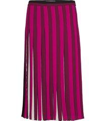 pleated stripe skirt knälång kjol rosa michael kors