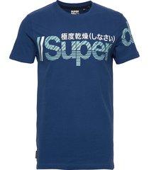 core split logo tee t-shirts short-sleeved blå superdry