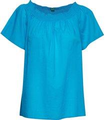 blouse blouses short-sleeved blå united colors of benetton