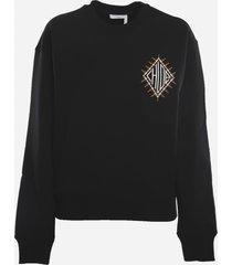chloé cotton sweatshirt with cotton fleece logo