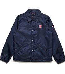 2 in 1 coach jacket bomberjack blauw tommy hilfiger