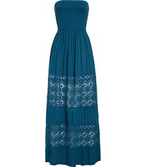 women's chelsea28 farrah smocked cover-up maxi dress, size x-large - blue