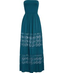 women's chelsea28 farrah smocked cover-up maxi dress, size x-small - blue