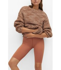 mango women's open chunky-knit sweater