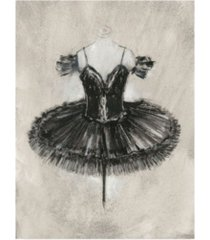 "ethan harper black ballet dress ii canvas art - 15.5"" x 21"""