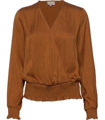 chaimae blouse blouse lange mouwen bruin minus