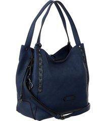 bolsa fedra f6521 azul marinho - azul marinho - feminino - dafiti