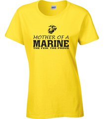 mother of a marine the few the proud u.s. marines military ladies  tee shirt 917