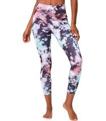onzie women's pocket yoga leggings - true romance tie dye x-small spandex