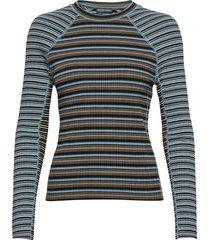 samara 909, rib t-shirt t-shirts & tops long-sleeved blauw stine goya