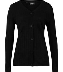 cardigan a coste (nero) - bpc bonprix collection