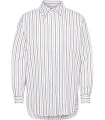 boyfriend blouse långärmad skjorta vit ivy & oak