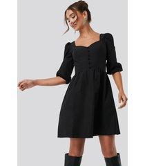 trendyol collar detailed mini dress - black