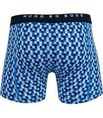 hugo boss boxershort cyclist 2-pak blauw blok